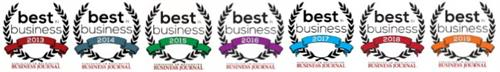 Voted Best In Business seven years in a row!