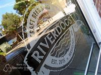 Frosted door graphics for Riverdogs in Washougal