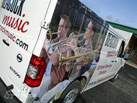 Beacock Music Van Wrap