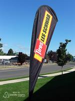 Custom printed tear drop flags