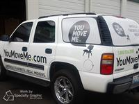Partial vehicle wrap for You Move Me