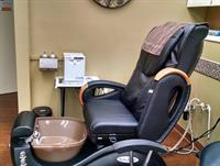 Our oh-so comfortable massaging pedicure chair