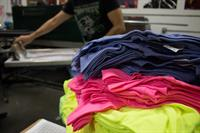 A rainbow of apparel printed for Naydenov Gymnastics.