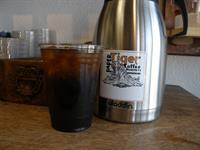 Cold Brew Coffee, steeped a ful 24 hours and triple filtered for a smooth yet crisp taste.