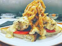 The Dungeness Crab Melt-Heirloom Tomato/Sourdough/Old Bay Fondue/Onion Fry
