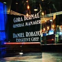 Our management team. Cora Bernal-General Manager and Daniel Robayo-Executive Chef
