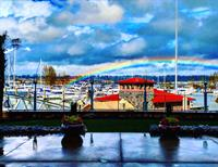 Rainbows off the patio, gonna be a beautiful summer down on the water!