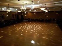 dance floor, stage, disco ball