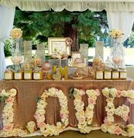 Blush Wedding Treat Table