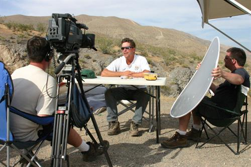 Shooting for The Outdoor Channel in southern California gold country