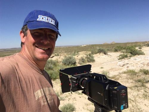 "Shooting in Eastern Wyoming for the show ""Dino Hunter"""