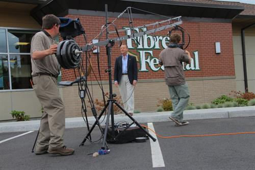 Shooting video for Fibre Federal Credit Union