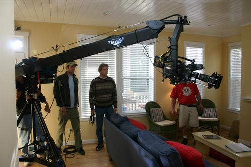 Shooting jib shots for Seabrook Land Company