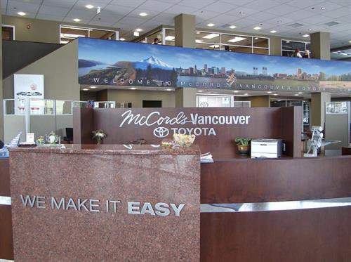 Lobby signs welcome your customers to your business and help to make a memorable first impression!