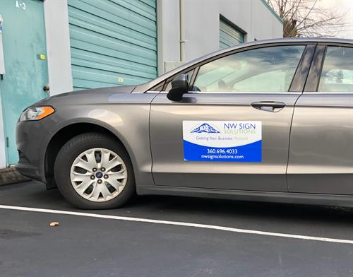 Need to brand your personal car? A magnet might be the answer!