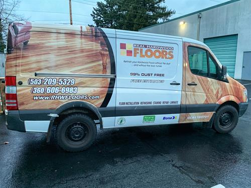 A full wrap will get your business noticed 24/7!