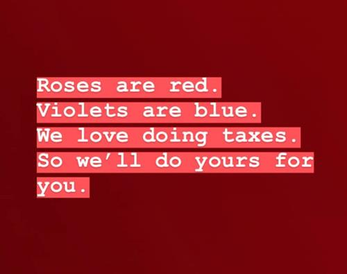 Better at accounting than Valentine's Day poems
