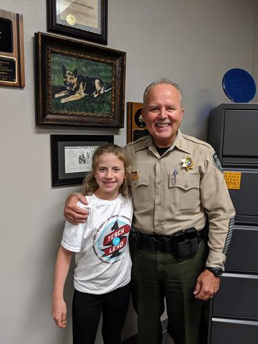 Sheriff Atkins with student