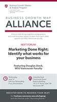 WSU Vancouver MAP Alliance Marketing Series: Marketing Done Right: Identify what works for your business
