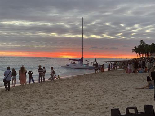 Waikiki Beach sunset!