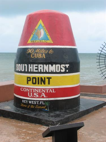 The southern most point of the continental U.S.- Key West