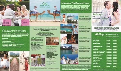Our wedding brochure.