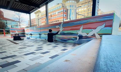 Exterior Auro Hotels Mural