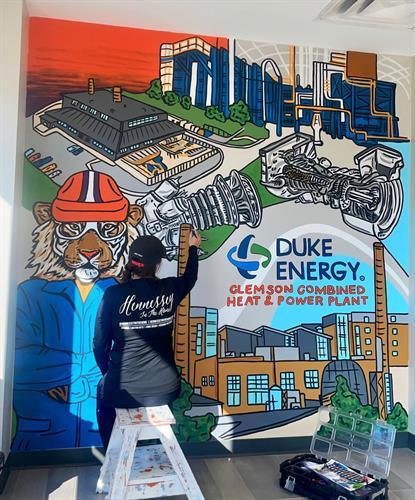 Duke Energy Lobby Mural