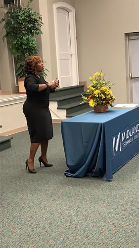 """""""All in"""": Keynote address for a small class of Massage Therapist Grads at MTC."""