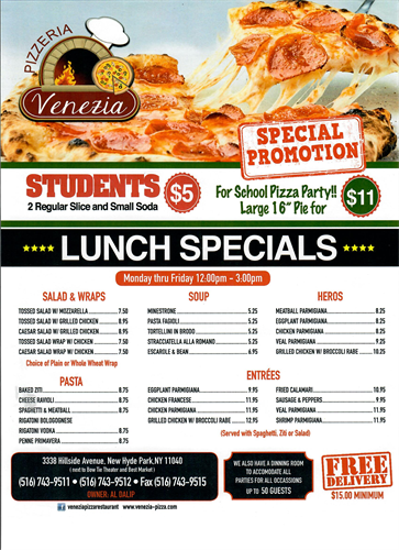 Lunch Specials | Student Discount