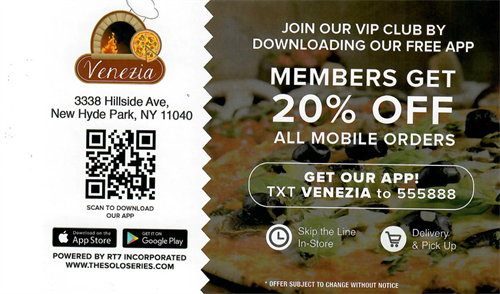 Download the APP and receive 20% off all mobile orders