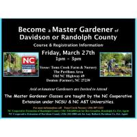 Want to Become an NC Master Gardener?