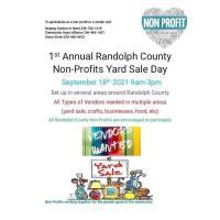 1st Annual Randolph County Non-Profits Yard Sale Day