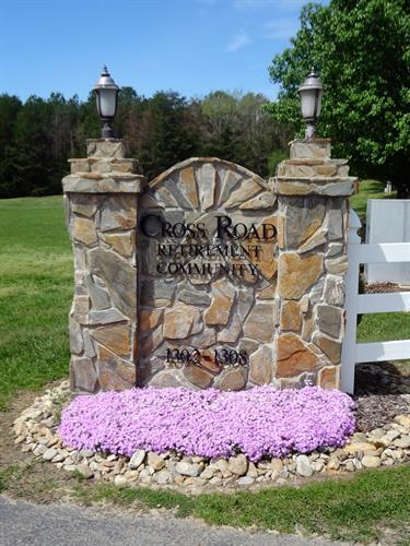 Entrance into Cross Road Retirement Community