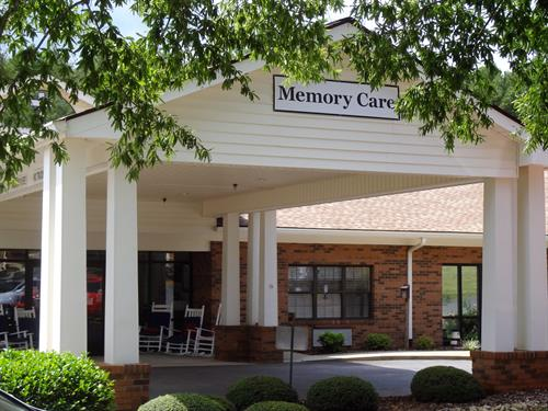 The Memory Care Center's entrance
