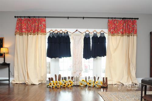 Bridal Party dresses hangout in the Bridal Suite