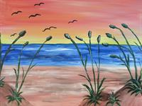 """""""The Sea"""" Sample Paintng"""
