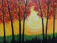 """""""Sunlight in the Words"""" Sample Painting"""