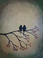 """Love Birds"" Sample Painting"