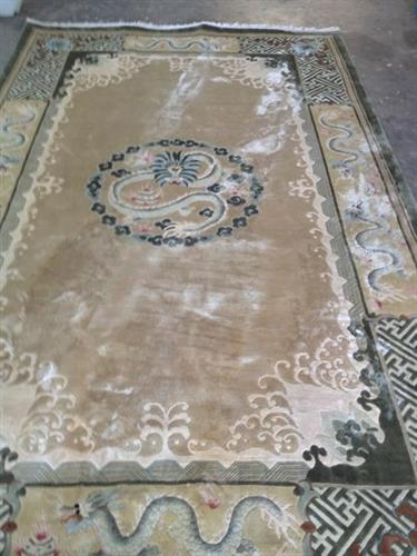 Silk Rug - Water Damaged - BEFORE