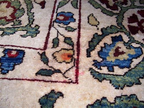 Wool Rug - red wine stain Removal - AFTER