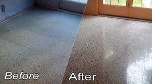 Terrazzo Floor - BEFORE & AFTER