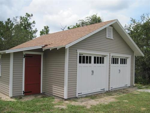 Custom 2 car garage with attached workshop