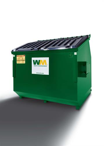 Trash and Cardboard Recycling Dumpster sizes 4-yard, 6-yard, 8-yard