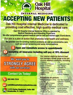 Oak Hill Hospital Internal Medicine
