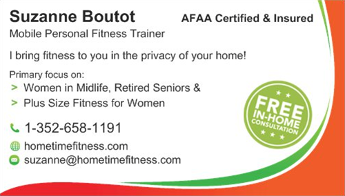 Contact info for Home Time Fitness with Suzanne