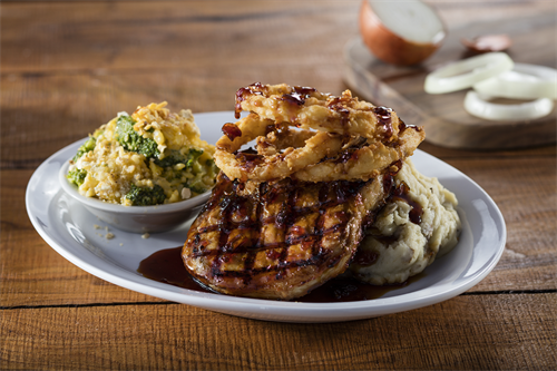 Cheddar's Scratch Kitchen - Bourbon Glazed Pork Chop