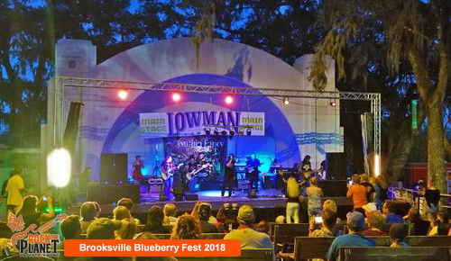 Brooksville Blueberry Festival 2018 -Stage and Lighting