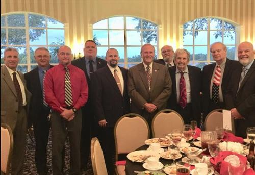 The Veterans at my sponsored Veteran's Table at the Lincoln Day Dinner 2018