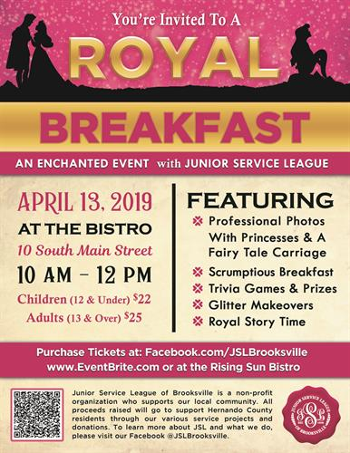 Royal Breakfast: An Enchanted Event with JSL